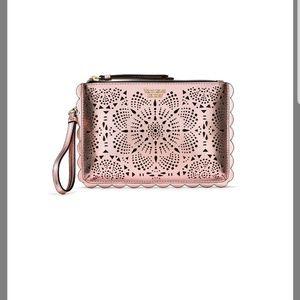 Nwt Victoria's Secret  Rose Gold wallet Wristlet